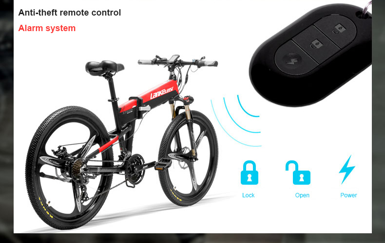 HTB1h1zlXIrrK1Rjy1zeq6xalFXaF - 26inch electric mountian bicycle folding  frame 48V  lithium battery hidden frame 400w high speed motor range 60-100km