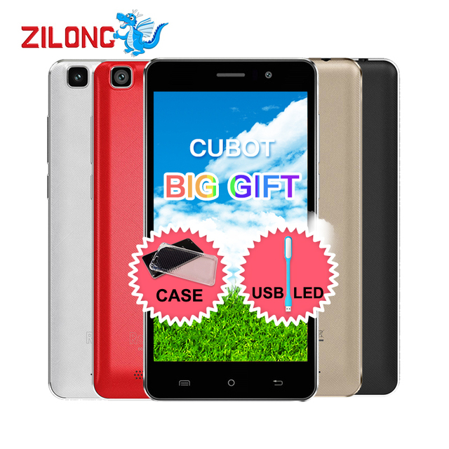 Original CUBOT RAINBOW 5.0 inch 3G Android 6.0 1280x720 Smartphone MT6580,Quad Core ,1.3GHz 1GB+16GB 13.0mp 2200mAh Mobile Phone