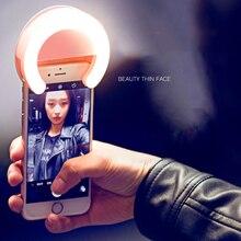 Universal Selfie LED Ring Flash Fill Light Clip Camera For Smart Phone Bluetooth Shooting Fill LED Light Lamp