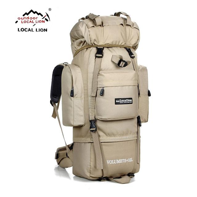 80L  Outdoor backpack Camping Travel Bag Professional Men Hiking Backpack Rucksacks sports bag Climbing package