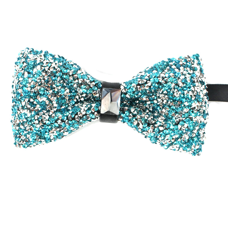 New Arrival Men Women Bow Tie Set With Rhinestones Ties for Men Fashion Design Wedding Party Can Use Stage Perform