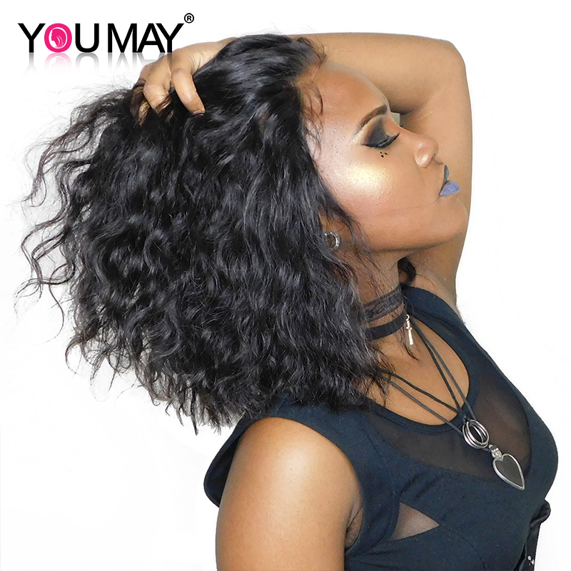 Bob Wig For Woman 13X6 Short Lace Front Human Hair Wigs For Women Deep Part Natural Wave You May Remy Hair