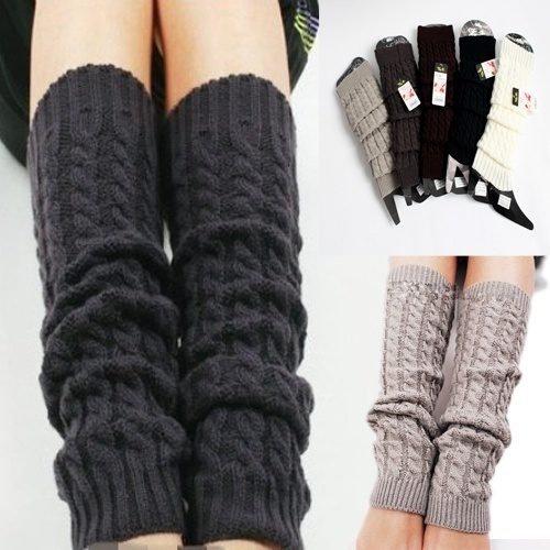 Winter Leg Warmers For Women Fashion Gaiters Boot Cuffs Woman Winter Thigh High Warm Socks Boots Leg Wraps Wool  Thigh Bands