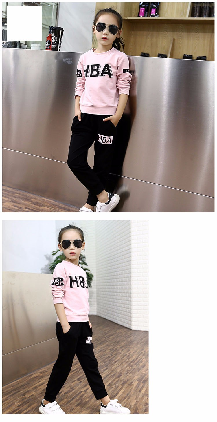 little teenage girls clothes sports suits girls outfits tracksuit autumn spring letters tops t shirts black pants tracksuits girls sets 5 6 7 8 9 10 11 12 13 14 15 16 years old little big teenage girl children sport sets clothing set for gir (7)