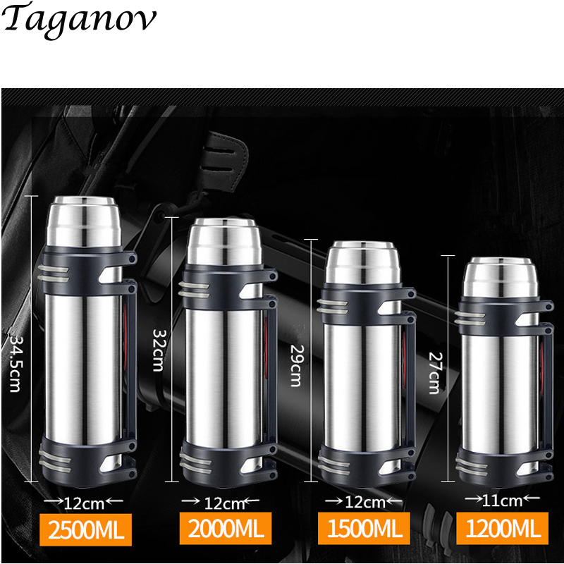 304 Stainless Steel Thermos Flask Large Capacity Mountain Climbing Tour Thermal Insulation Water Bottle Outdoor Travel Cup gifts