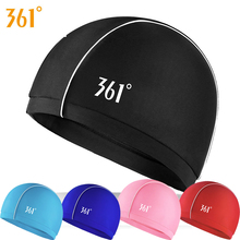361 Women Fabric Swimming Cap Unisex Adult Pool Breathable Caps Long Hair Ears Protection Men Water Sports