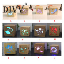 A comfortable gift 2017 12 Constellations Creative Gift Music Box with Colorful LED lights #0728