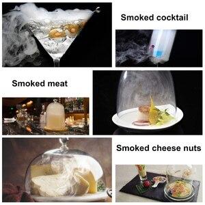 Image 5 - BORUiT еда холодный генератор дыма портативный курительная пушка мясо сжечь коптильня пособия по кулинарии для барбекю гриль или курильщика д