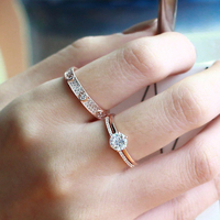 Starland New 3pcs/set Silver Rings 925 Sterling Silver White CZ Ring for Women Wedding Ring Fine Jewelry Valentine's Day Gifts
