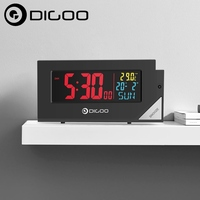 Digoo DG C8 New Wireless Full Color Digital Clear Backlight Electronical Desk Bedroom Alarm Clock With