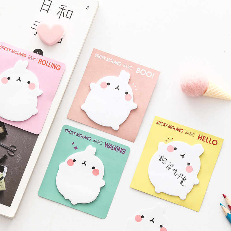 1 pc autocollants lapin coréen Kawaii autocollants autocollants papeterie planificateur bloc-Notes mignon Papeleri