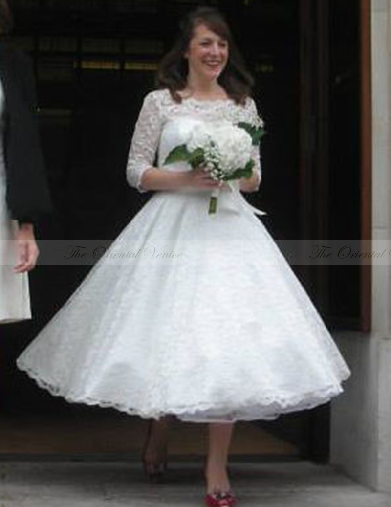 popular vintage retro wedding dress short-buy cheap vintage retro