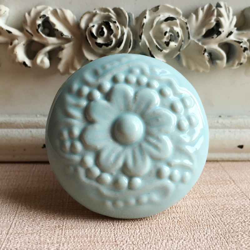 Cameo Design ceramic cupboard door knob drawer pull porcelain ...