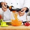 Palas de Plástico grande de Verduras Espiral Slicer Spiralizer Vegetal 4 cuchillas de cocina herramientas