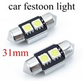 10 pieces super bright car f-estoon light 31mm 2smd 5050 1.92W f-estoon led light bulb 12V white led f-estoon lamp