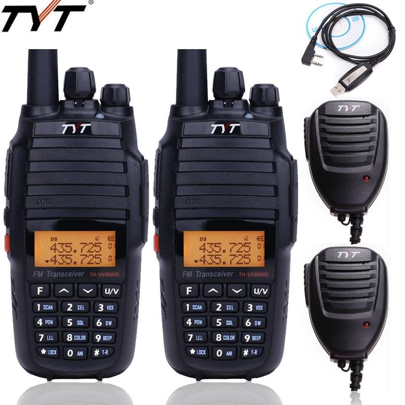 2pcs TYT TH UV8000D walkie talkie 10Watts Cross band Repeater dual band VHF UHF Handheld FM