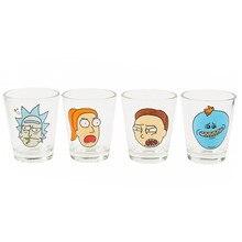 Рик и Морти стаканы объемом в одну пинту рюмка мини вино пивные чашки и кружки забавные стаканы