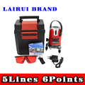 Lairui 5 lines 6 points laser level, 360 degree rotary cross laser line level,with outdoor mode and tilt mode