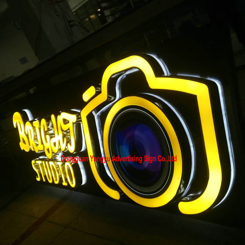 Waterproof 3D led letters signs backlit and front lit letters for shops hotals