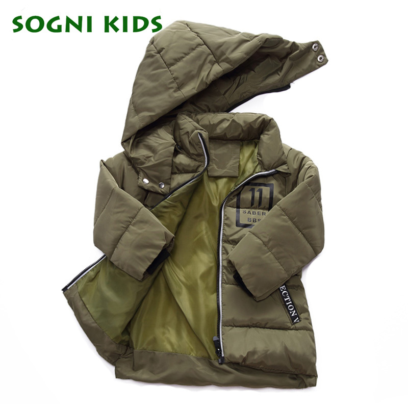 3-8 Yrs Winter Thick Coats Boys Girl Warm Outwear Cotton Parkas Windproof Child Deteched Hooded Long Style Brand Autumn Jacket 2017 girl boys clothes jacket long parkas kids hooded outerwear solid cotton warm long style children winter coats for 3 10y