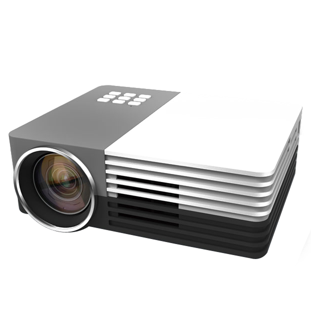 GOTiT GM50 Portable Mini LED Projector HD 1920x1080 600 Lumens Used Home Theater Business Education By PC/Computers