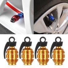 1 упаковка для автомобиля, грузовика, алюминиевая шина, обод колеса, стволовые крышки воздушного клапана, крышка для мотоцикла, велосипеда, граната, форма, 3 цвета, автомобильные аксессуары
