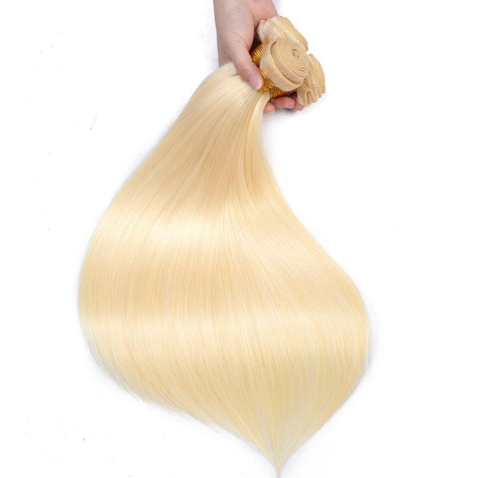 Queenlike produkty do włosów 3 sztuk kolor 613 pasma prostych włosów Remy włosy ludzkie w kolorze blond brazylijskie doczepy do włosów wyplata wiązki w Warkocze od Przedłużanie włosów i peruki na AliExpress - 11.11_Double 11Singles' Day 1