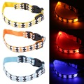 1pcs Rhomb Pattern Puppy Dog LED Collar LED Flash Nylon Night Safety Collar M/ L popular new