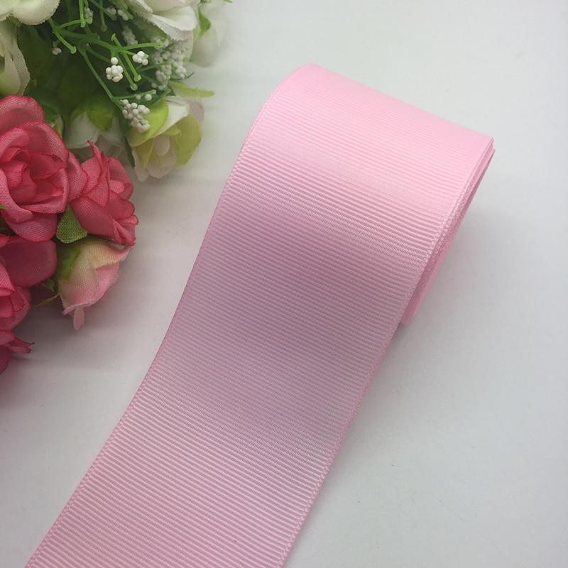 3 ярдов/партия 2 дюймов 50 мм широкий розовый Grosgrain ленты банты на голову Свадебные DIY ремесла