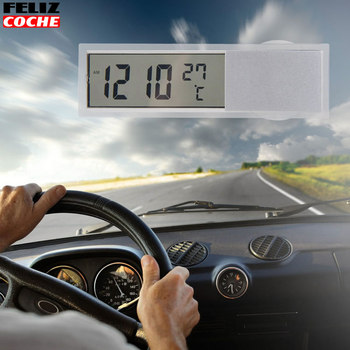 Car Clock Digital Electronic Clock Thermometer LCD Auto Car Truck Clock Dashboard Date Time Calendar Thermometer A7049 digital clock