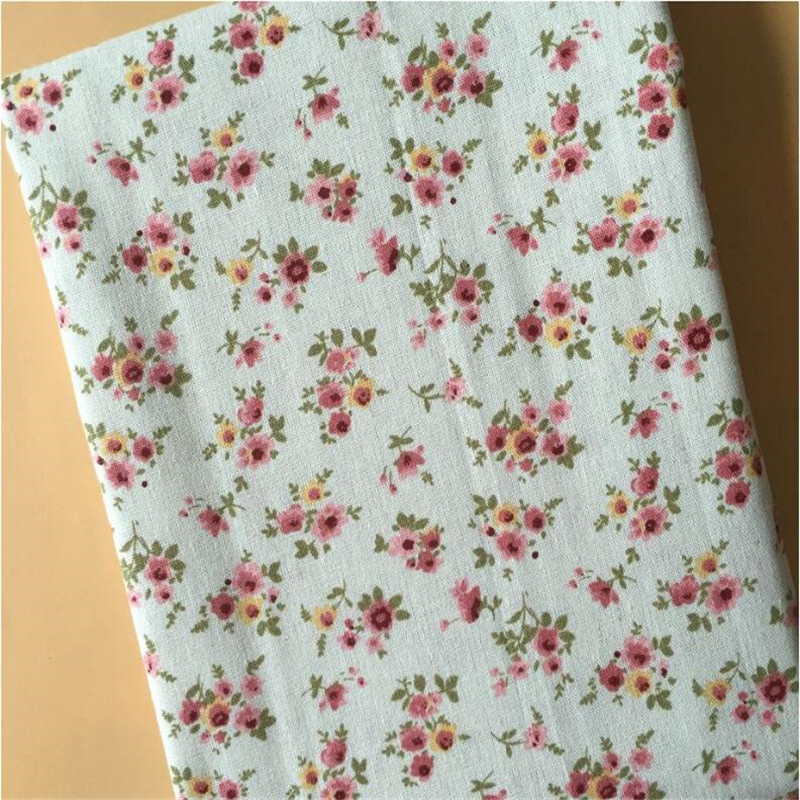 Cotton Linen Printed Fabric Patchwork Floral Series Canvas Material DIY Sewing Cloth For Textile