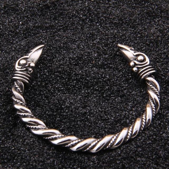 5412a98d7763 stainless steel raven Bracelet Indian Jewelry Fashion Accessories Viking  Bracelet Men Wristband Cuff Bracelets For Women