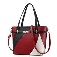 New Women Leather Handbags Shoulder Bag Women S Casual Tote Bag Female Patchwork Handbags High Quality