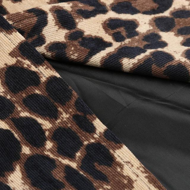 Women Leopard Sexy Winter Warm New Wind Coat Long Sleeve Open Stitch Cardigan Leopard Print Long Brown Coat 2018 Hot Sale