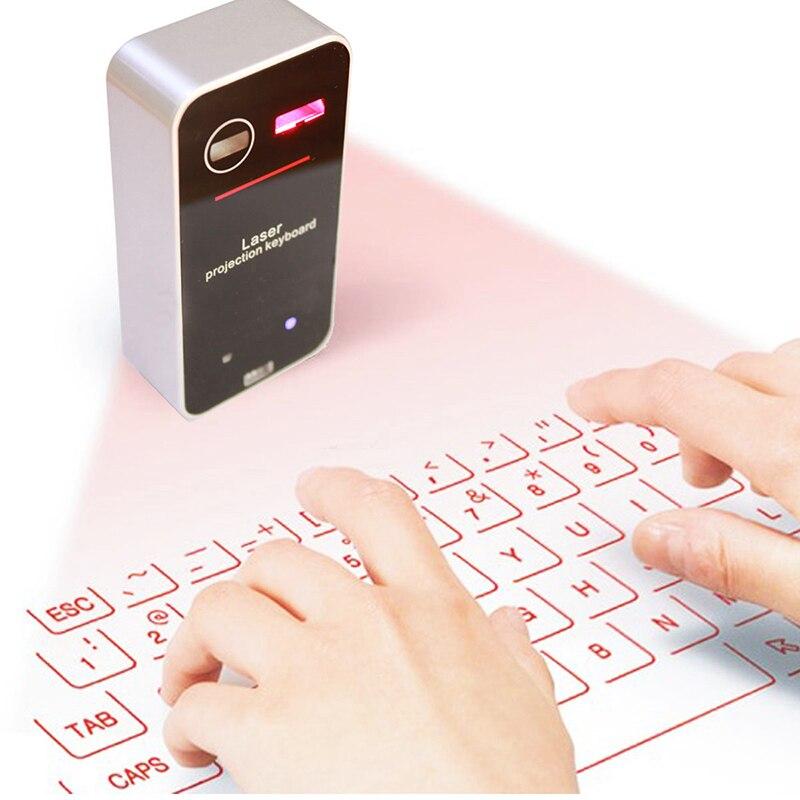 Mobiele Tablet Draadloze Bluetooth Laser Projectie Toetsenbord Muis Mini Draadloze Bluetooth Laser Laser Projector Toetsenbord