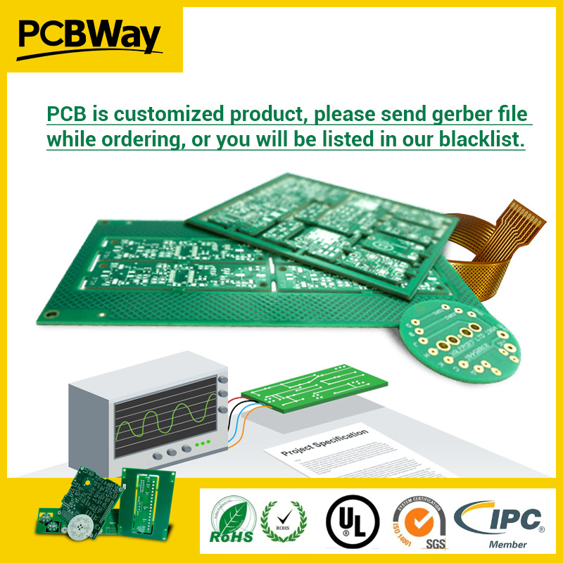 PCB Prototype PCB Fabrication Manufacturer Printed Circuit Boards PCBWay,customized Price Isn't Real,pls Send PCB Files,pay Link