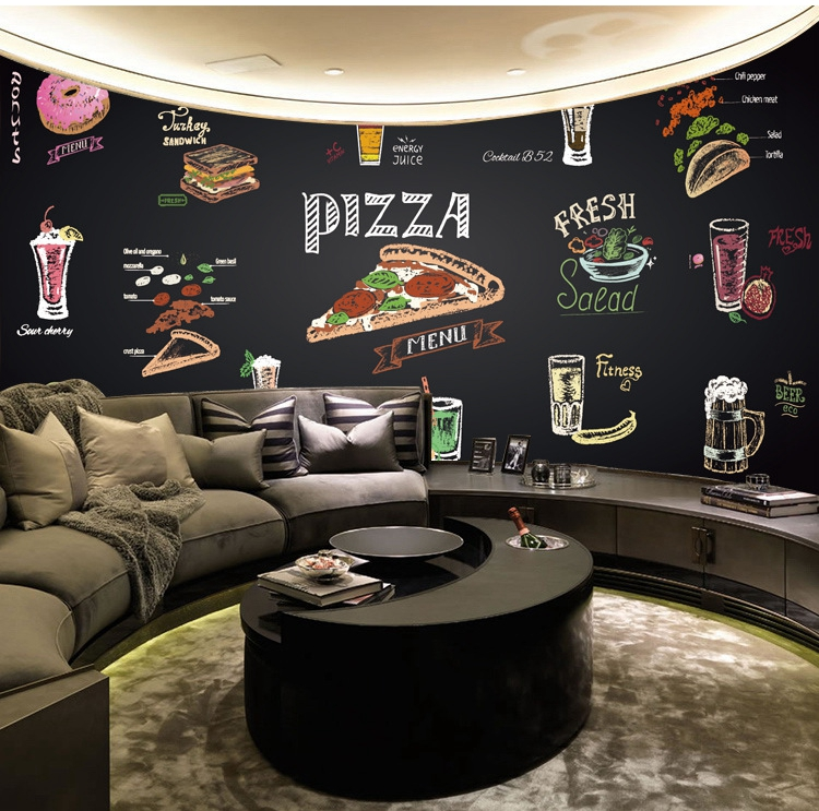 Home Decor 3D Hand painted fried chicken beer theme wallpaper restaurant barbecue shop Hot pot Korean cuisine wallpaper mural image