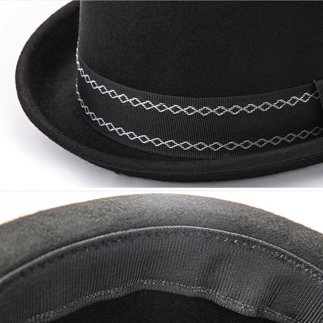 96bc6d1a8d56cf Sunlynn winter Women Bowler Hat Men Woolen Fedora Vintage Short Brim  Crushable Jazz Hat/Felt