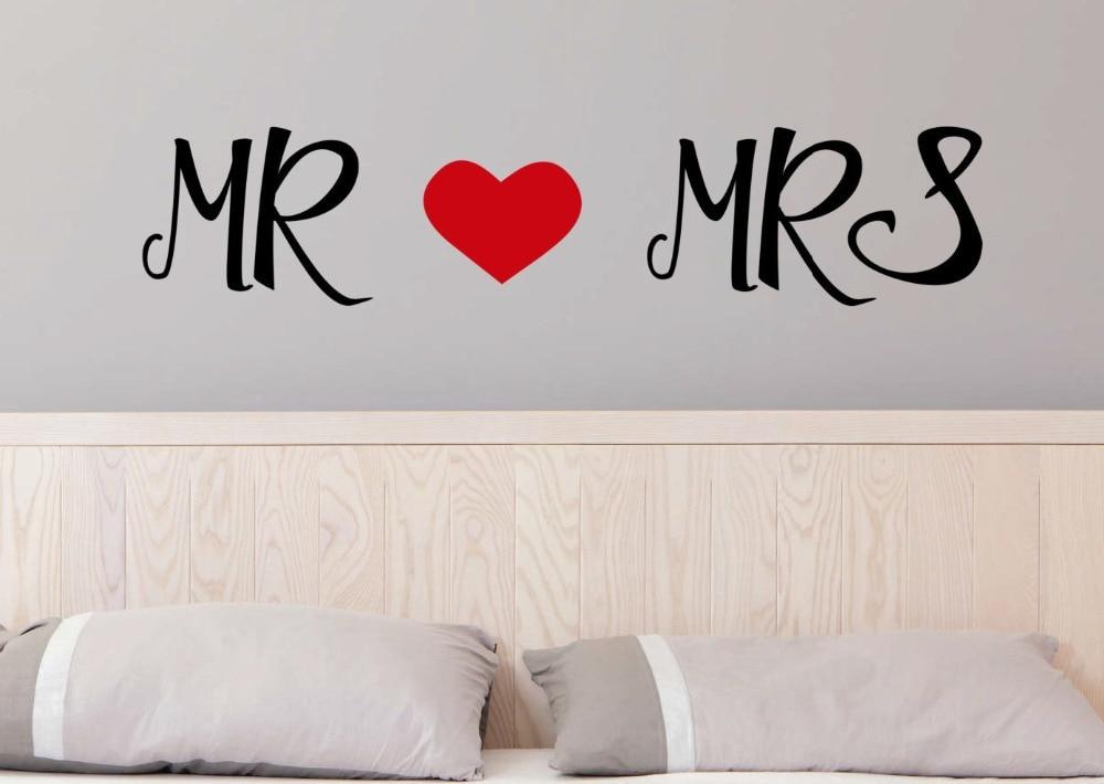 Us 4 98 25 Off Herr Und Frau Liebe Süße Zitate Wallpaper Home Wohnzimmer Besondere Kunst Dekor Mit Herz Silhouette Romantische Liebe Wandaufkleber
