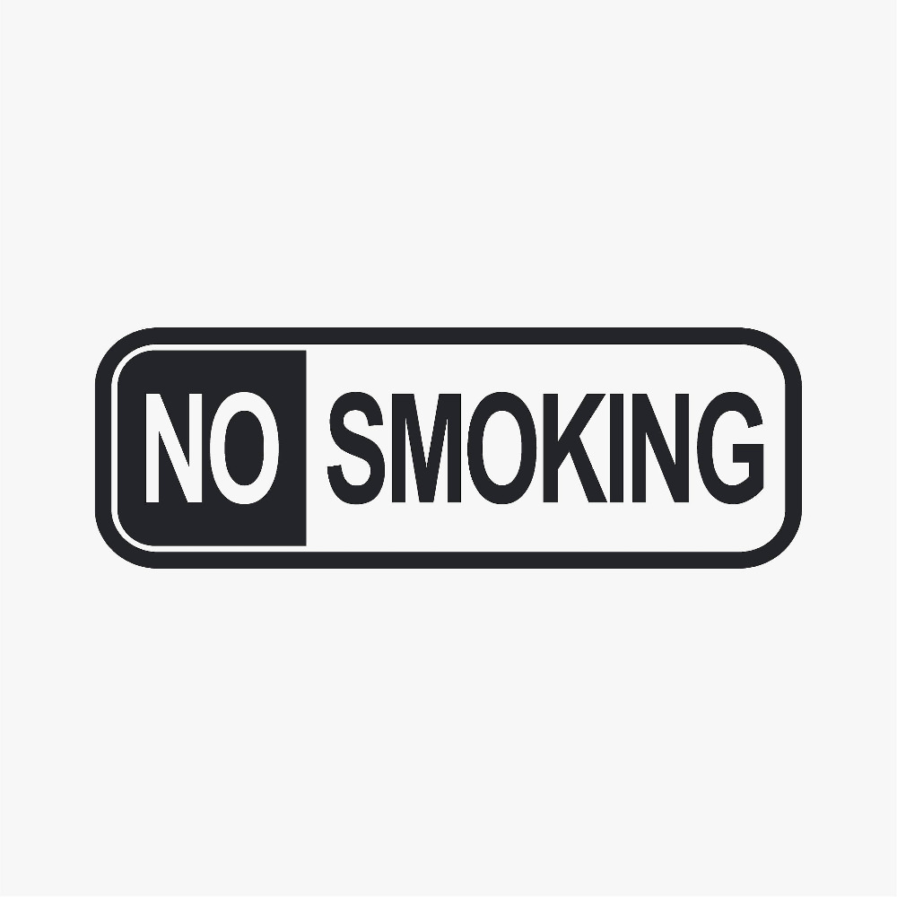 2 pcs No Smoking Sign Wall Window Stickers Office Home Decor Waterproof Art Decal Mural Public Area Restaurant Decoration ZB203