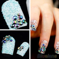 Hot Sale 300pcs 3D Nail Art Tips gems Crystal Glitter Rhinestone DIY Decoration + Wheel tools sticker 01KP 2ULJ