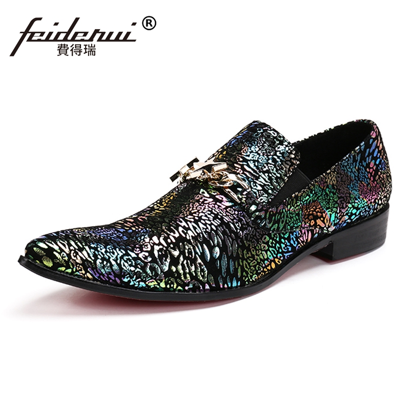 Plus Size New Italian Designer Pointed Toe Slip on Man Runway Modern Loafers Genuine Leather Men's Wedding Party Shoes SL172 plus size fashion pointed toe derby man runway footwear italian designer patent leather wedding party men s runway shoes sl435