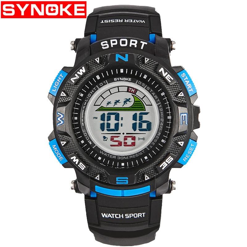 SYNOKE Ρολόγια Παιδιά Χρονοδιακόπτη LED Back Light Sport Kids ... 4e5345c6561