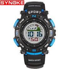 SYNOKE Watches Kindertimer LED Back Light Sport Kids Digital Horloges Alarm 3ATM Waterproof Calendar Watch