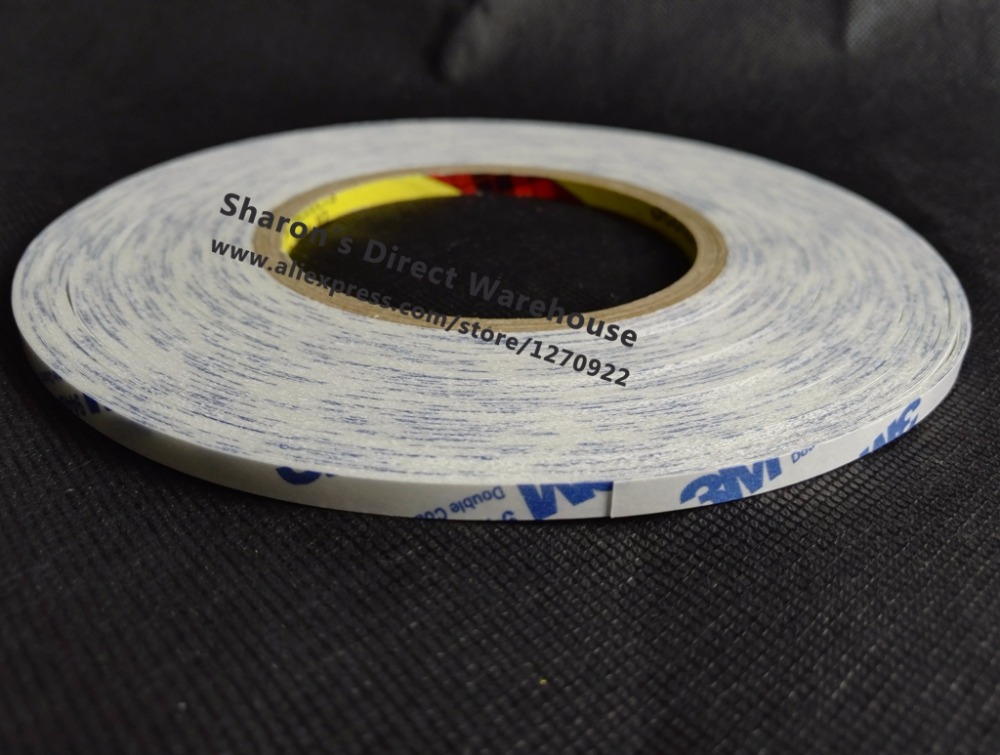8mm*50M Double Sided Adhesive Tissue Tape, for phone LCD Display Holding, Foam Bond 1pc durable double sided tape adhesive high strength double faced tape foam attachment tape two sided adhesive 10mx20mm