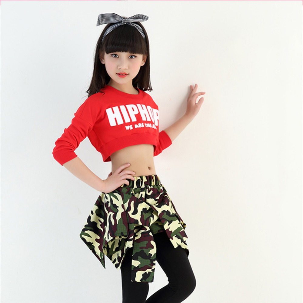 d572284bb050 Kids Girls Hip hop Clothing Sets Crop Top + Skirt Legging Jazz Dance Wear  Age 4 12 Years-in Clothing Sets from Mother & Kids on Aliexpress.com |  Alibaba ...