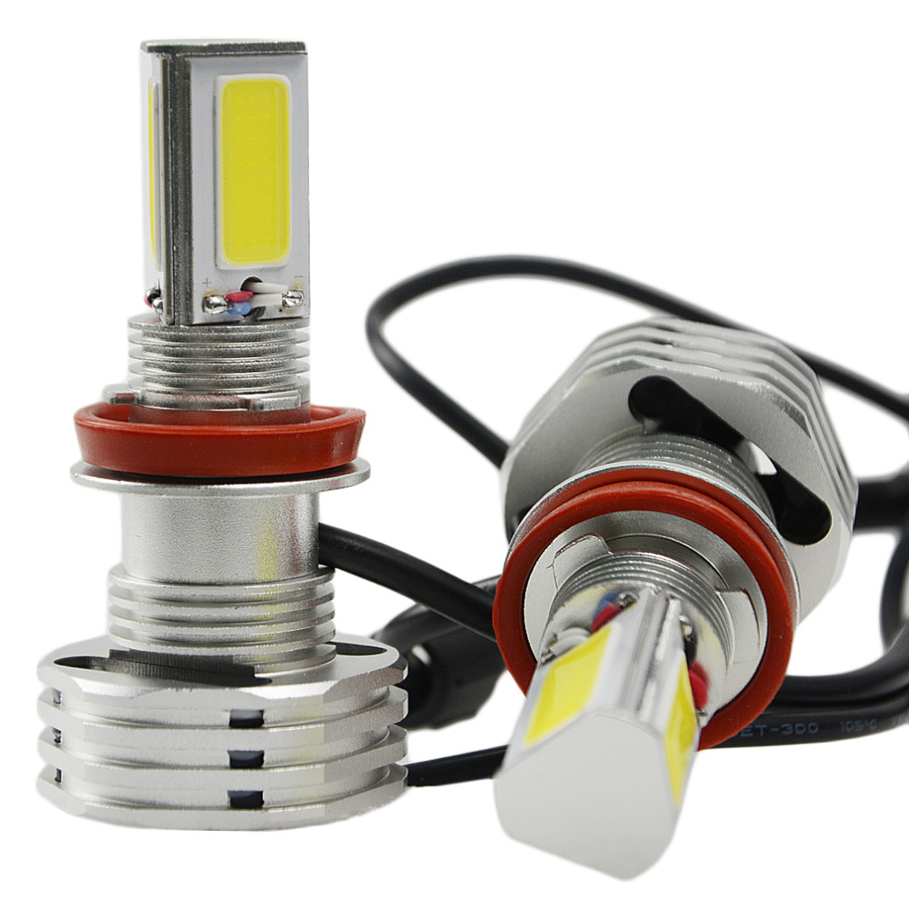 2 X Plug&Play 90W 9000LM H8/H9/H11 High Power for COB LED Bulbs Car DRL Fog Headlight Lamp Bulb