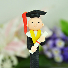 10pcs/lot latest creative stationery  doctor style lovely students gift prizes soft polymer clay ball pen