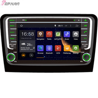 Topnavi 8'' Quad Core Android 6.0 Car DVD Play for SKODA Rapid 2013 Autoradio GPS Navigation Audio Stereo