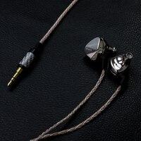 Новейшая мода Moondrop Kanas Pro Алмазная цинково магниевый сплав Динамический HIFI наушники в ухо HIFI монитор наушники Earbu